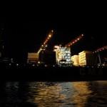 Nachtarbeit im Hafen