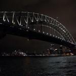 Nachtblick auf Sydney Harbour